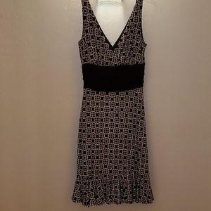 White House Black Market Double V Neck Dress